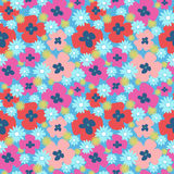 Seamless floral cute pattern with poppies and dandelions. Seamless floral cute pattern with a poppies and dandelions Royalty Free Stock Photography