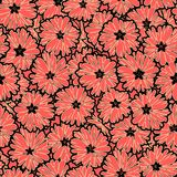 Seamless floral daisy flowers pattern. Background Royalty Free Stock Photo