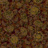 Seamless floral damask pattern background Royalty Free Stock Photography