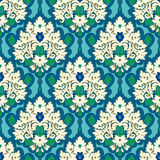 Seamless  floral damask pattern. Stock Photos