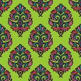 Seamless floral damask pattern vector Stock Photography