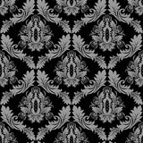 Seamless floral damask Wallpaper for design Stock Photos