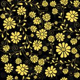 Seamless floral dark pattern Stock Photo