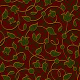 Seamless floral dark red damask pattern background Royalty Free Stock Photography