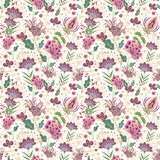 Seamless floral decorative pattern Stock Images