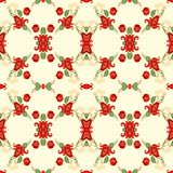 Seamless floral decorative pattern Stock Photos