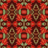 Seamless floral decorative pattern Royalty Free Stock Image
