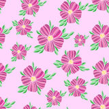 Seamless  floral decorative pink colorful pattern Royalty Free Stock Images