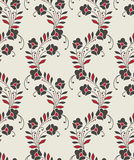 Seamless floral design for curtain stock illustration