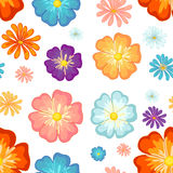 Seamless floral design. Illustration of a seamless floral design on a white background Royalty Free Stock Photography