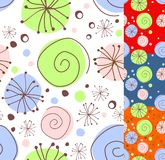 Seamless floral doodle Royalty Free Stock Images