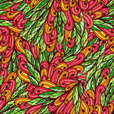 Seamless floral doodle pattern Royalty Free Stock Photos