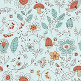 Seamless Floral Doodle Pattern Royalty Free Stock Photography