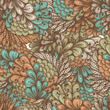 Seamless floral doodle pattern Royalty Free Stock Photo