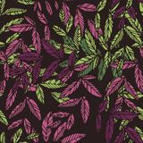 Seamless floral drammatic pattern Royalty Free Stock Image