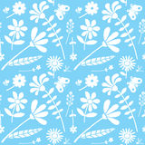 Seamless floral drawing background pattern Royalty Free Stock Image