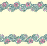 Seamless floral edging pattern Stock Image