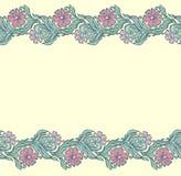 Seamless floral edging pattern Stock Image