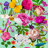Seamless floral fashion pattern Royalty Free Stock Photography