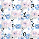 Seamless floral feminine pattern Royalty Free Stock Photography