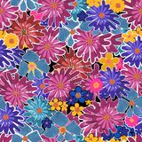 Seamless floral feminine pattern Royalty Free Stock Image