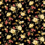 Seamless floral flower with black background vector illustration