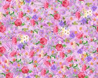 Seamless floral flower with digital background. Seamless floral flower with digital color background royalty free illustration