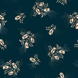 Seamless floral flower pattern stock illustration