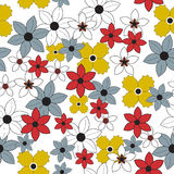 Seamless floral flower pattern Royalty Free Stock Photo