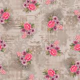 Seamless floral flower with texture background royalty free illustration