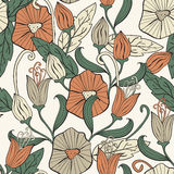 Seamless Floral Funky Pattern Royalty Free Stock Image