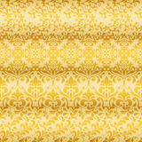Seamless Golden Floral Borders Stock Images