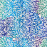 Seamless floral gradient doodle pattern Royalty Free Stock Image