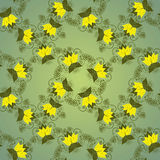 Seamless floral green background. Seamless floral green background with abstract plants Royalty Free Stock Photo