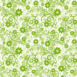 Seamless floral green background. Seamless floral green background with abstract plants Stock Photography