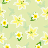 Seamless floral green pattern Royalty Free Stock Photos