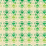 Seamless floral green pattern. On beige background, vector illustration royalty free illustration