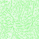 Seamless floral green pattern with spirals Royalty Free Stock Image