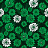 Seamless floral green spring pattern Stock Image