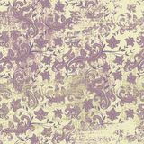 Seamless floral grunge background Royalty Free Stock Images