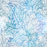 Seamless floral grunge  blue gradient pattern Royalty Free Stock Image