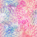 Seamless floral grunge  blue and violet pattern Stock Photography