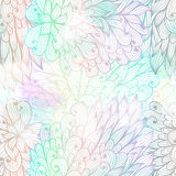 Seamless floral grunge gradient pattern Royalty Free Stock Photo