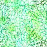 Seamless floral grunge  green gradient pattern Stock Image