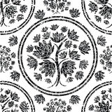 Seamless floral grunge pattern Royalty Free Stock Images