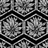 Seamless floral grunge pattern Stock Images