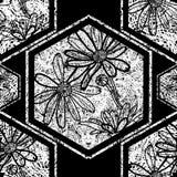 Seamless floral grunge pattern Stock Image