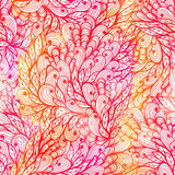 Seamless floral grunge pink gradient pattern Royalty Free Stock Photography