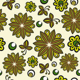 Seamless floral hand-drawn pattern Royalty Free Stock Images