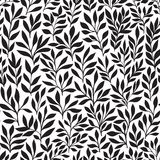 Seamless floral hand-drawn pattern, leaf background seamlessly tiling. Retro pattern with leaf. Organic ornament can be used as wa Royalty Free Stock Images